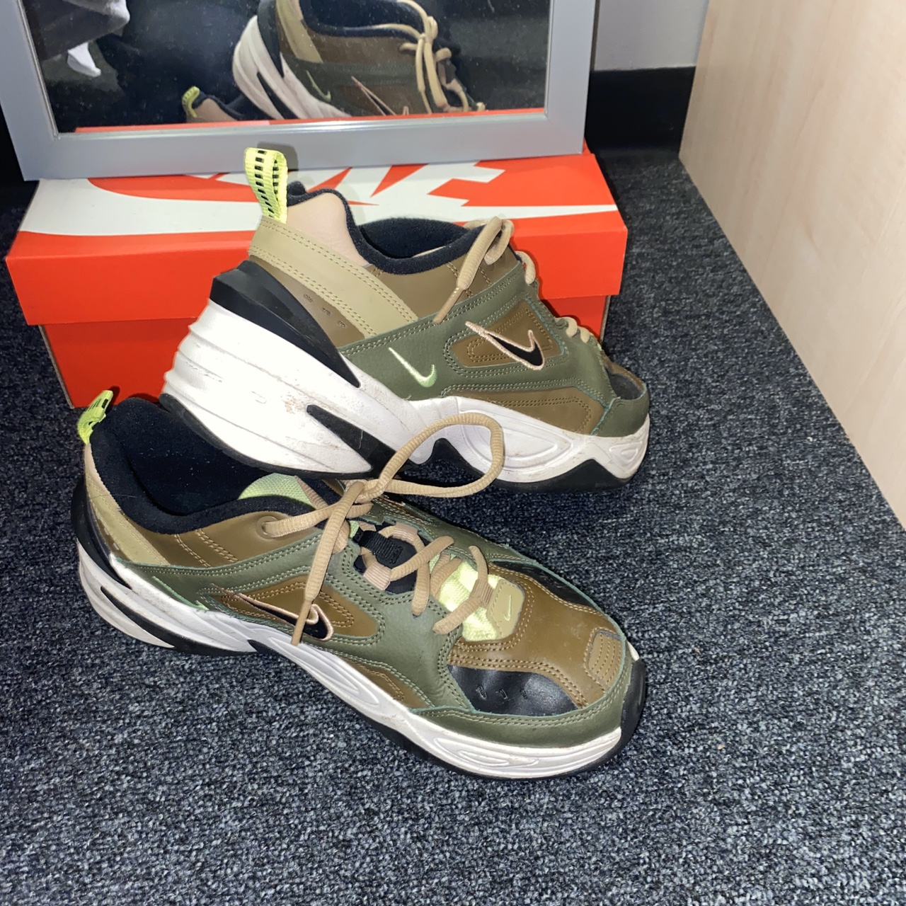 Selling these Nike m2k Tekno trainers