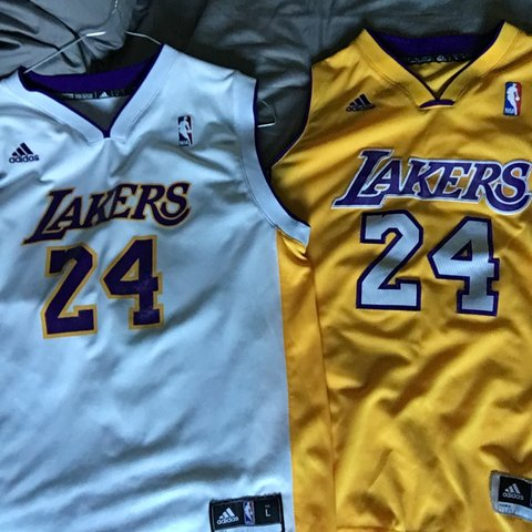 146f7eacc305 LA Lakers Basketball Vests Home and Away -Kobe Bryant is - Depop