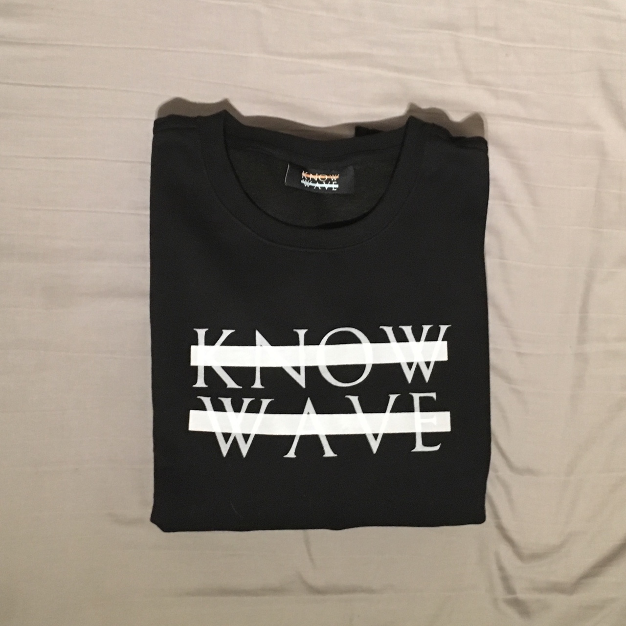 Know Wave Logo Crewneck Sweatshirt Black Large