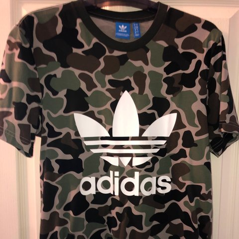Adidas Shirt Postage Included Size S T PriceDepop Camo SMUVpz