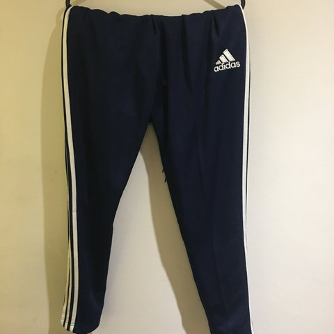 010364637e83 Blue adidas tracksuit bottoms Brand new without tags - worn - Depop