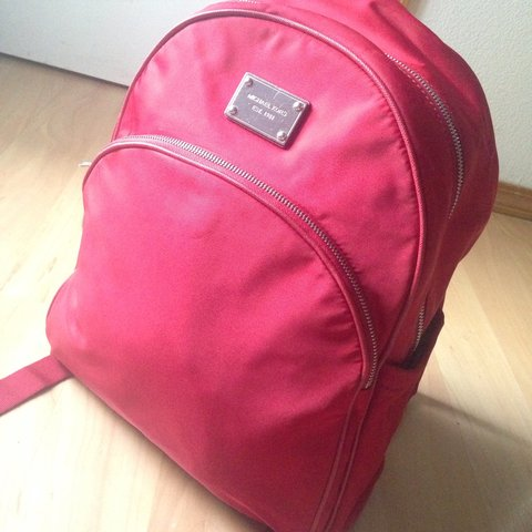 0e21ddf1e8a636 Red Michael Kors backpack. Haven't carried in a while and an - Depop