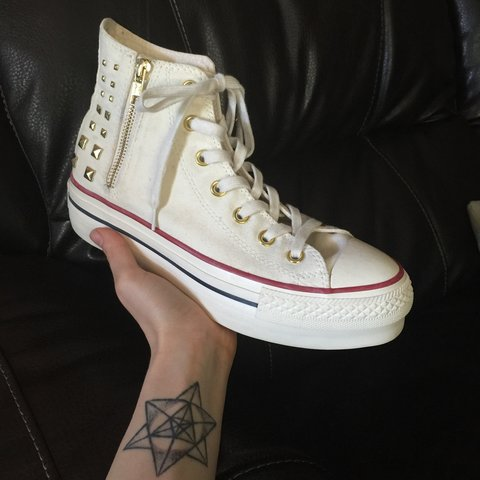 132194d1d5ff6f Limited edition Converse. Worn only a handful of times. and - Depop