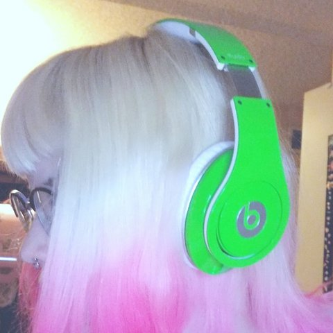 On Hold Beats By Dr Dre Studios Lime Green I Am Depop