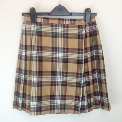 091e1b58a7 Brown check vintage wrap round skirt. Great condition, the - Depop