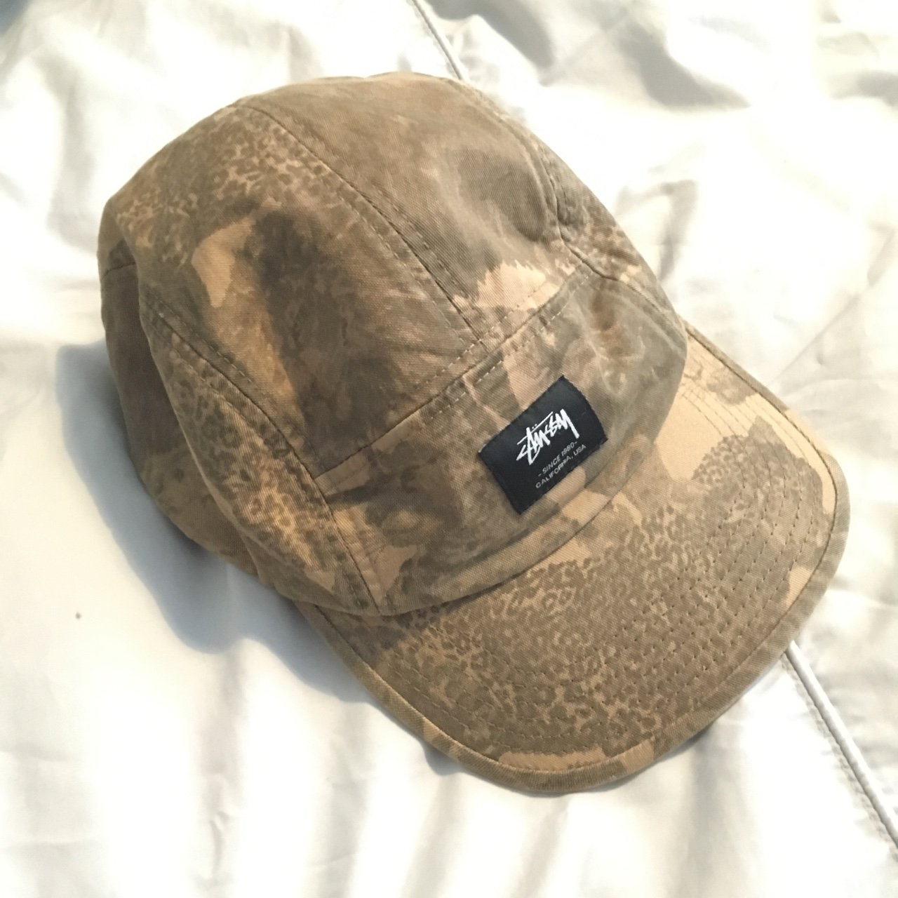 Stüssy 5 panel cap in beige brown  stussy  cap  5panel   hat - Depop bb1783254ca