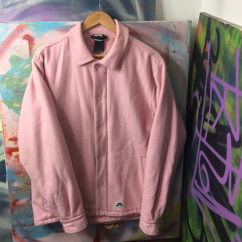 4903f68ec1 Nike SB coach jacket Pink coach style jacket Needs a but - Depop