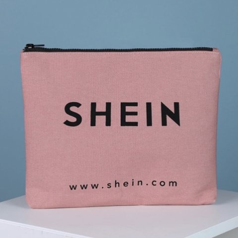 abf2f6636b Shein Logo Makeup Bag. It's pink and super large so it will - Depop