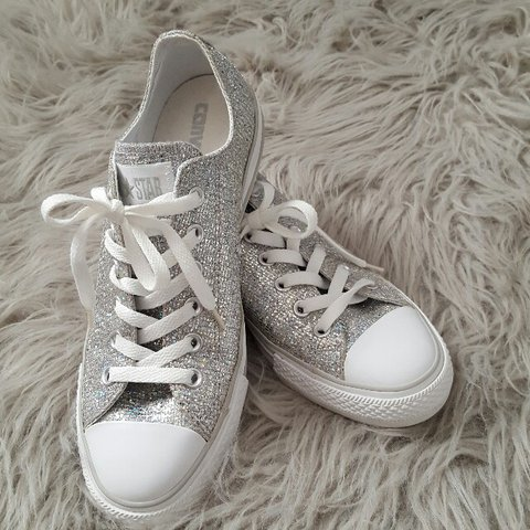 2fd6886ae8b377 Sequin Converse in women s size 9. Very gently used. Only I - Depop