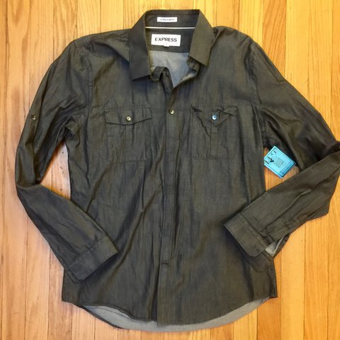 1ae31c8783 @museclothing. 2 years ago. Columbia, United States. Men's extra slim fit  button down from Express.