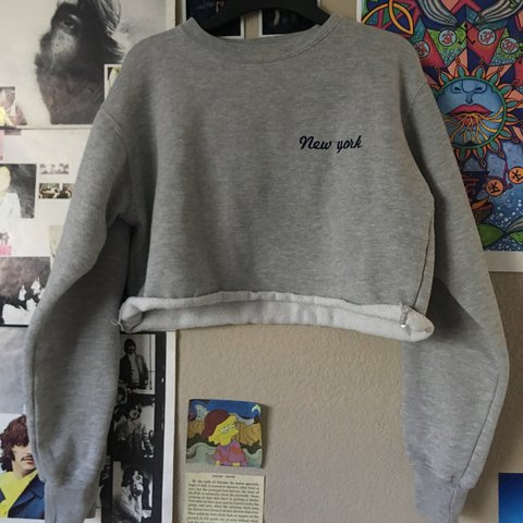 Brandy Melville Cropped New York Sweater Only Worn Once Is Depop