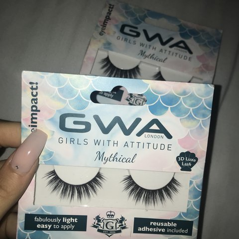b160969db28 @juliapawlak. 2 years ago. Middlesbrough, United Kingdom. GWA mythical  lashes - includes eyelash glue 2 packs