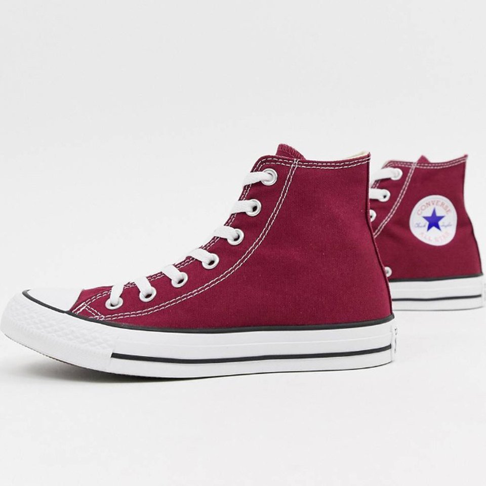 discount shop check out nice shoes UNISEX BURGUNDY CONVERSE HIGH TOP ALL STARS • SIZE 8 ...