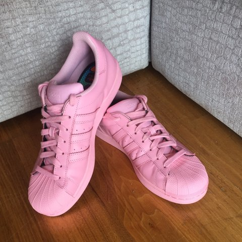 20b0abb4fd94 ... wholesale adidas superstar pharrell williams trainers in pink size 8..  depop c3699 512f4