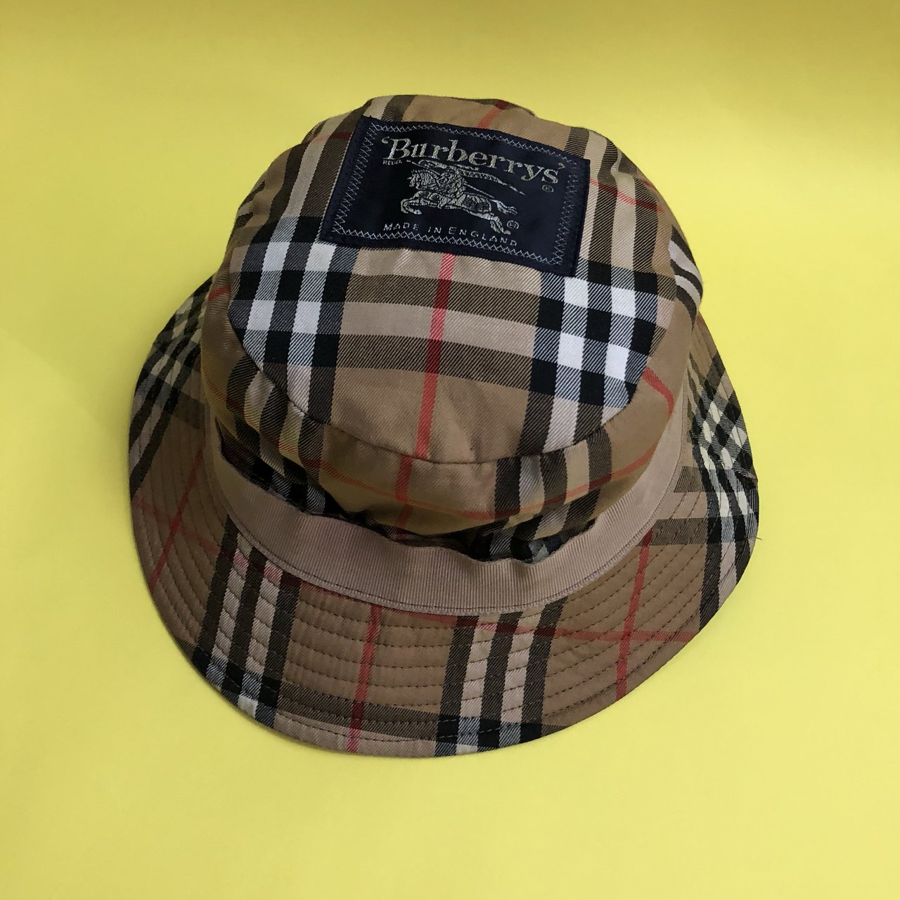 Wax coated Burberry Bucket Hat! Vintage authentic Burberry - Depop dd2a73536b0