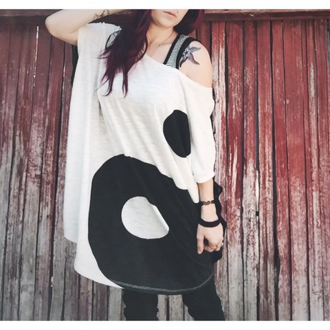 c3bd2db3a1b Yin yang tunic dress top from evil twin. Sold out online