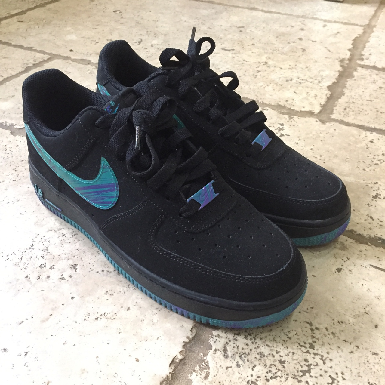 Black Force 1 Low Marble In Turbo Air Depop Green Nike cqRL5j34A