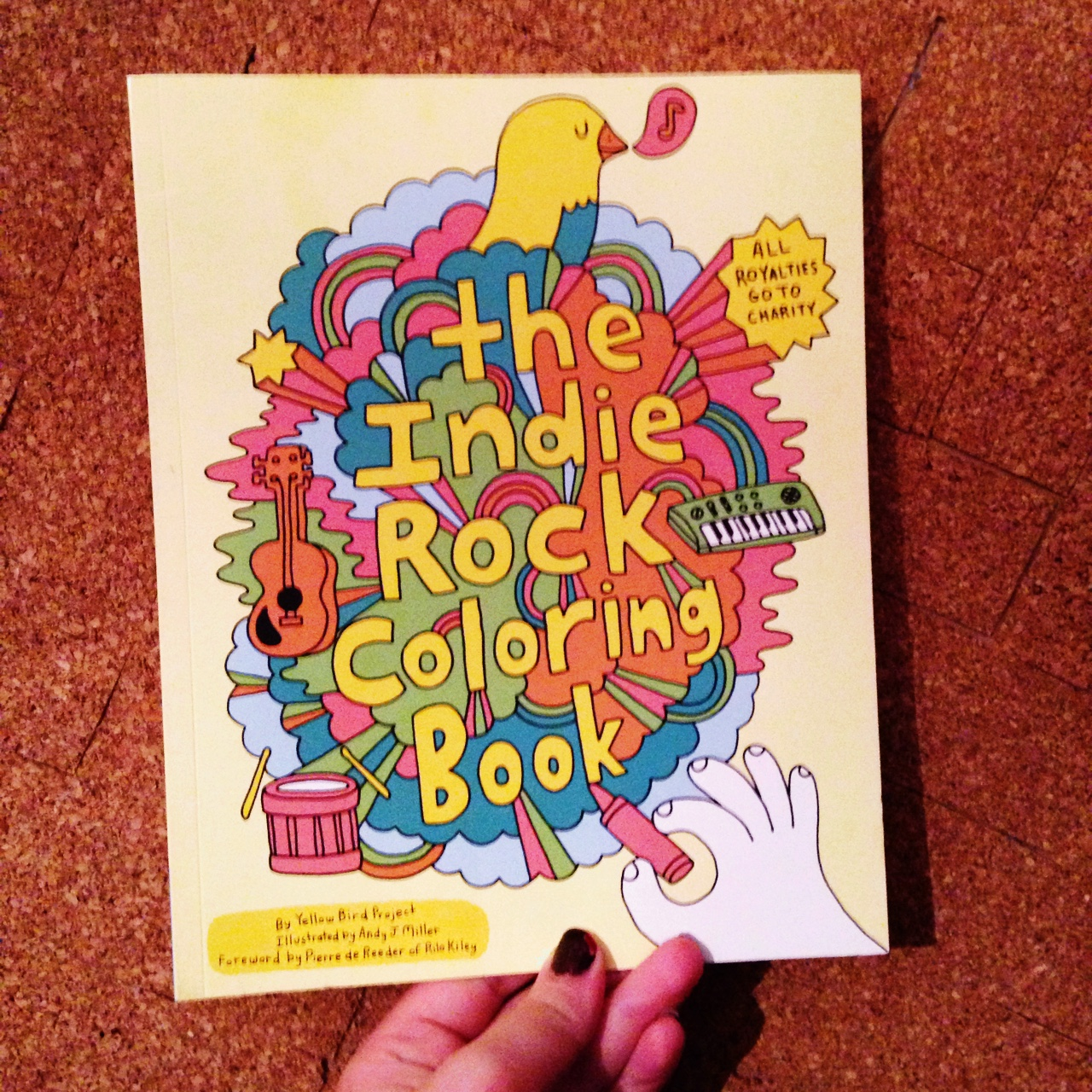 The Indie Rock Coloring Book by Yellow Bird Project.... - Depop