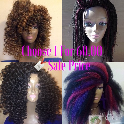 Custom Crochet Wig Unit Sale Choose 1 Pictured Or Request 1 Depop