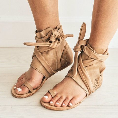 01f3c2c09 Free People Delaney boot sandal. Leather ankle wrap sandals