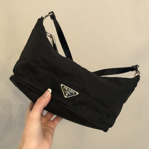 a404ef9eee8b Vintage black Prada purse ~ Small shoulder triangle Prada & - Depop