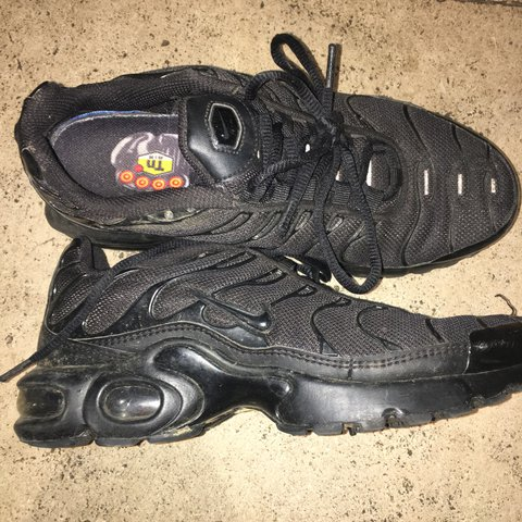 All black nike TNs - size 5.5 but will fit size 5. 8 10 a - Depop 4ff17969a