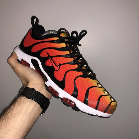 193343a4ca646 ... Nike Tn Tiger Sunset Red Yellow Nike Air Max Plus Tn - Depop .