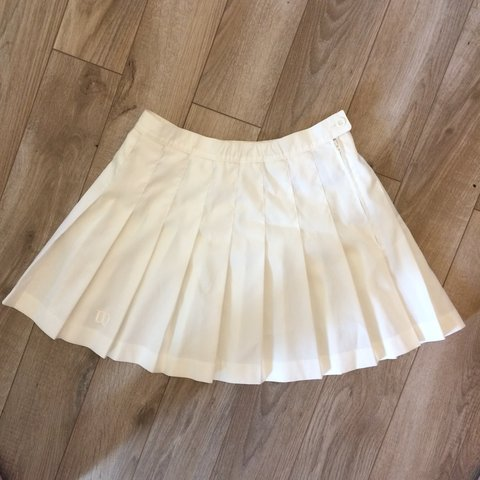 47d36ad5dc ON HOLD!!!! White Wilson pleated tennis skirt. Looks like to - Depop
