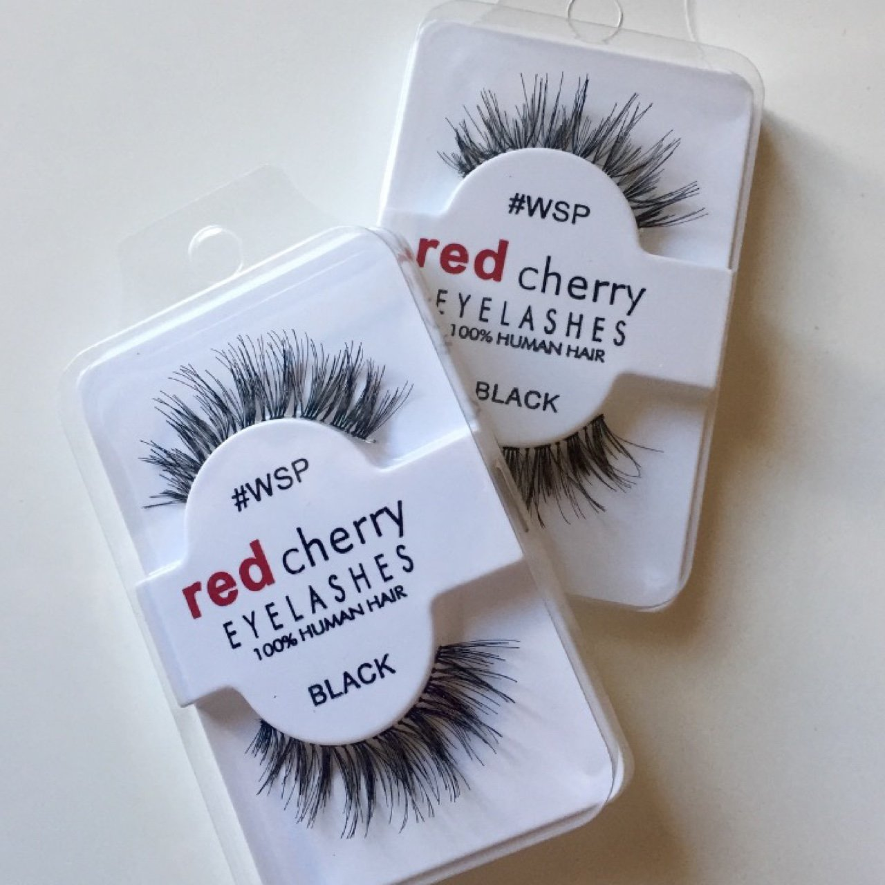 2 Pairs X Red Cherry Wsp False Black Eyelashes 100 Human Depop