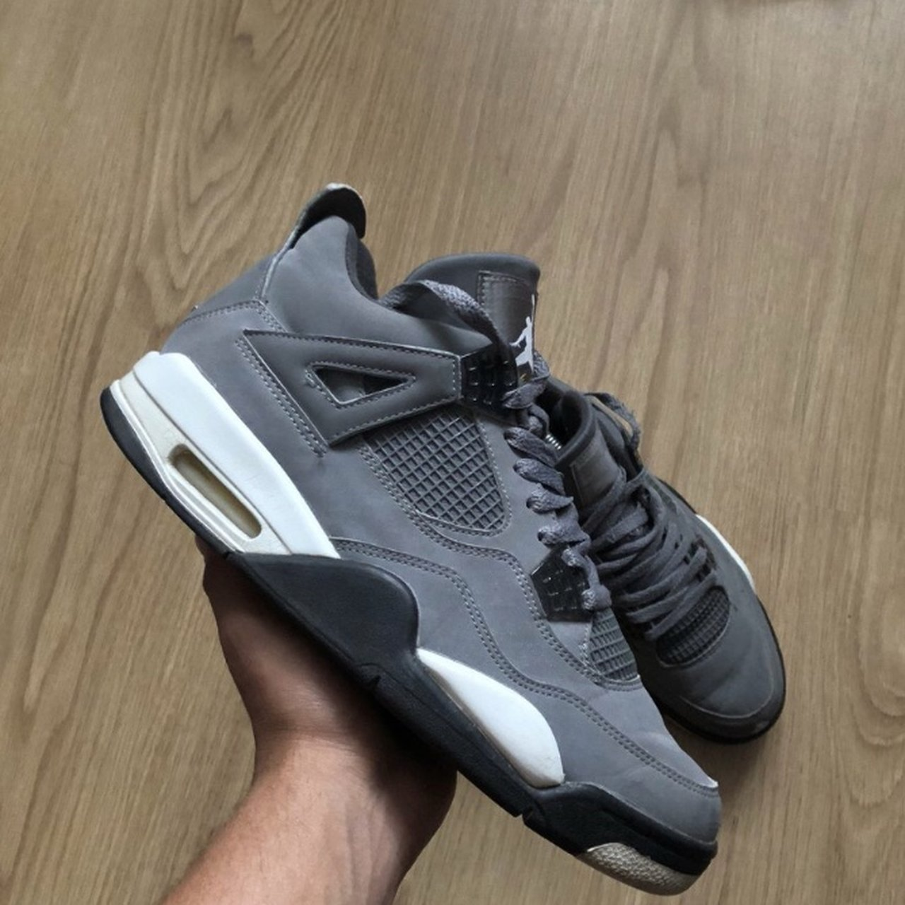 a6c4f93240cd54 Nike Jordan 4 cool grey