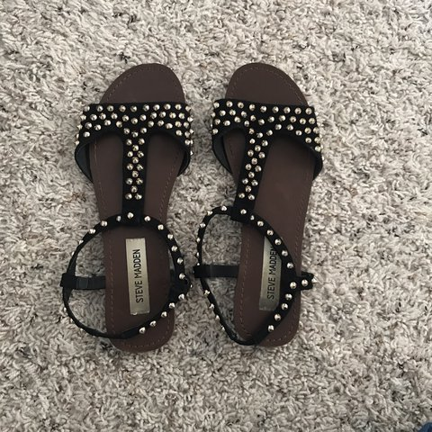 7e68edb948c Cute studded sandals from Steve Madden! Worn but still in so - Depop