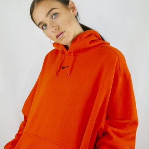 f88e6d8f9 BRIGHT ORANGE NIKE SWEATER. LOW KEY OBSESSED WITH THIS! FOR - Depop