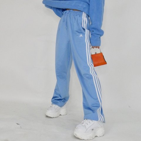 35425a1d9a78 Baby spice baby blue adidas track pants 💙💙💙 Size is are - Depop