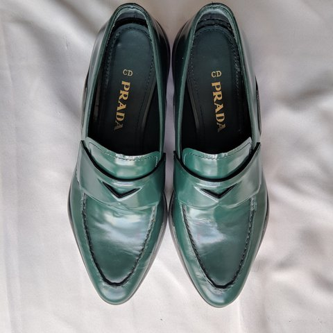 e032a9d65996 ... canada prada emerald green loafers in amazing like new condition i depop  3b064 48687