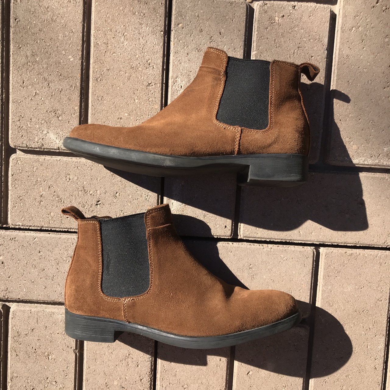 54a3a8e95887c dead8ray. Houston, United States. Zara Man Men's brown Suede Chelsea boots  ...