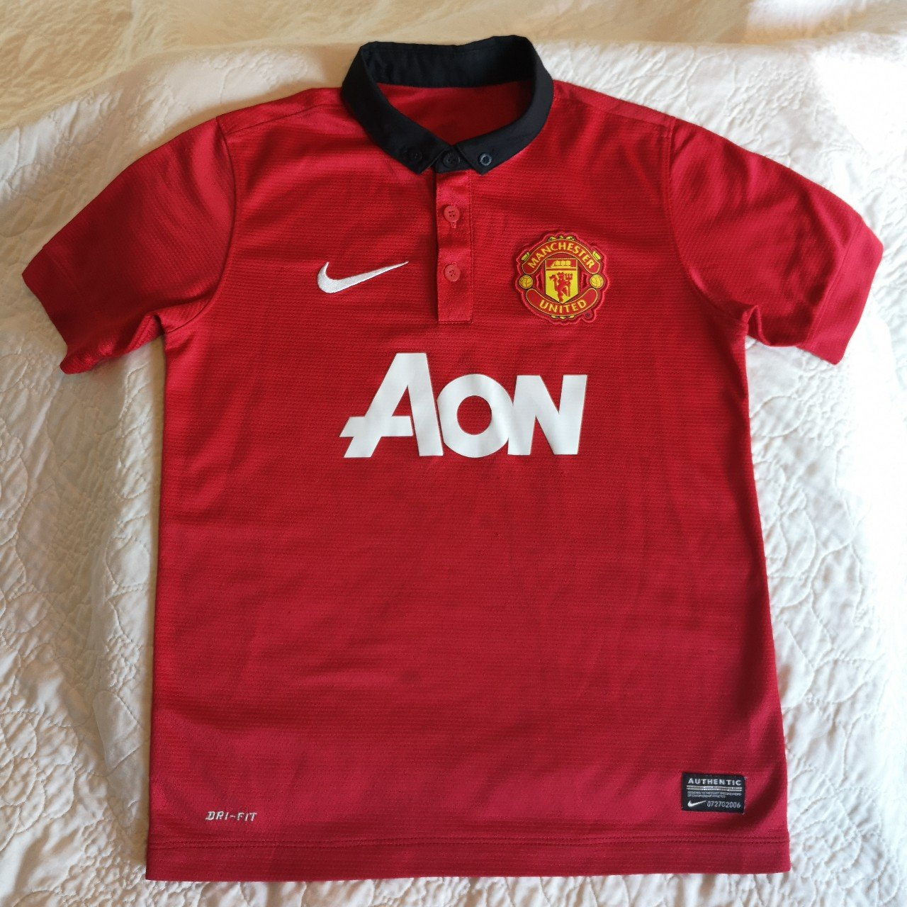 d19d3d6c9 @littlepiper. 29 days ago. United Kingdom, GB. Kids Official Manchester  United FC football shirt. Size S, best fit ...