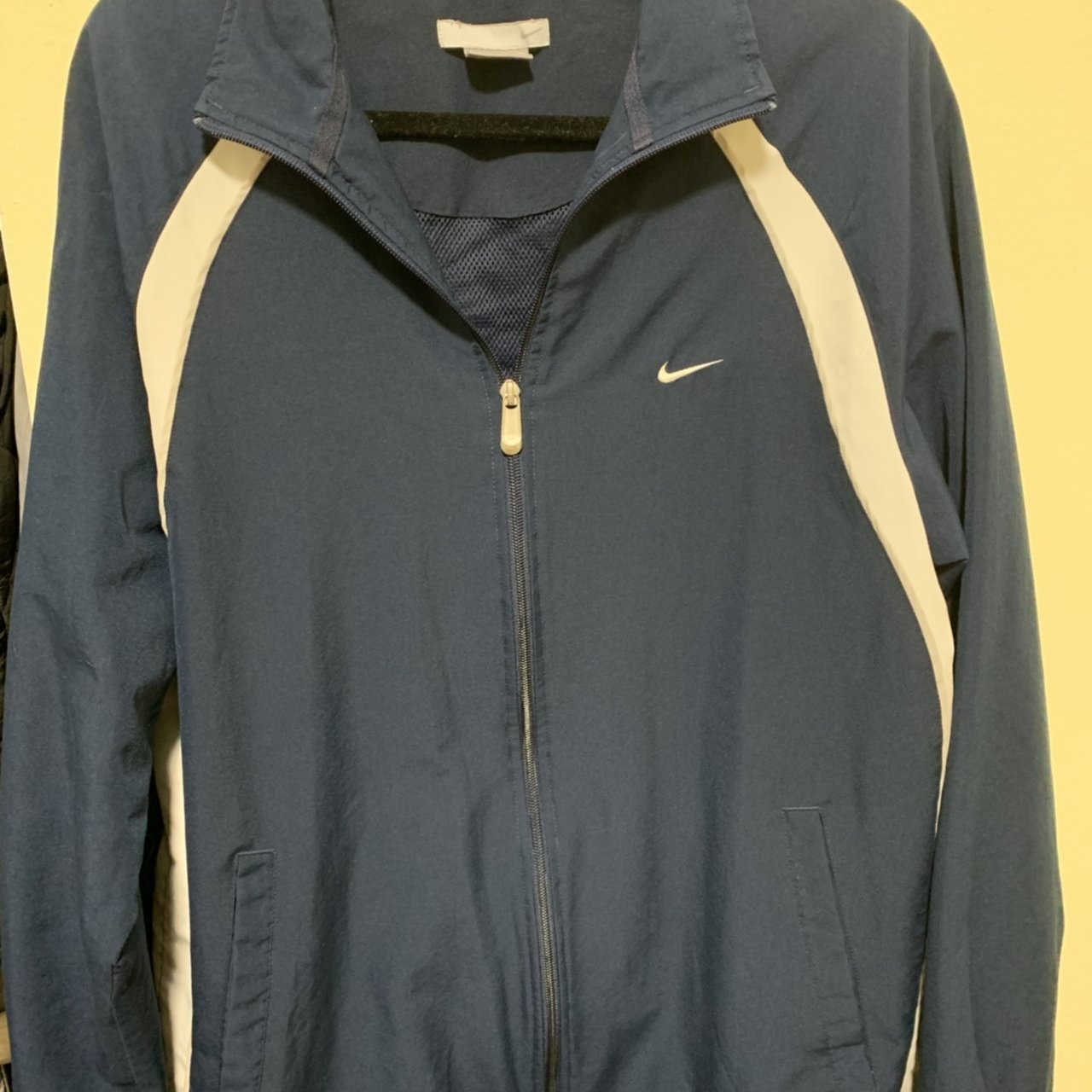 e5a0ba783a Vintage Navy Blue Nike Windbreaker (First pic is washed out