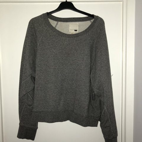 487206876e43f Cropped grey jumper from Levi s. Size L. Arms are slightly - Depop