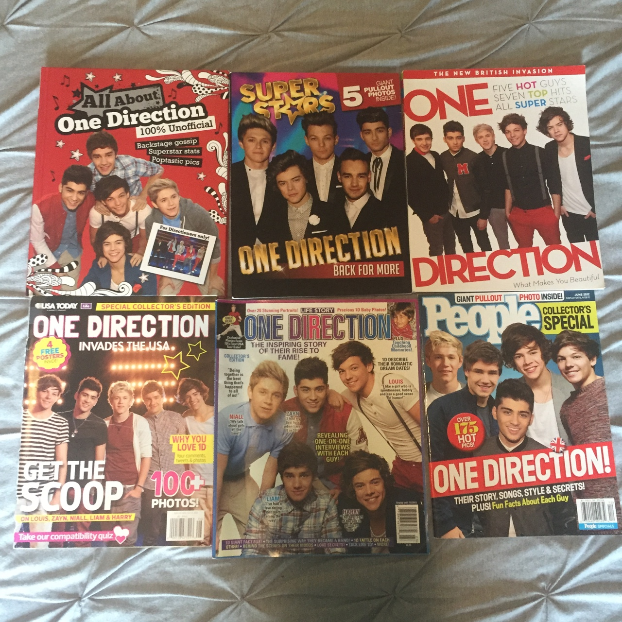6 One Direction magazines, 1 is a hardback  Only a    - Depop