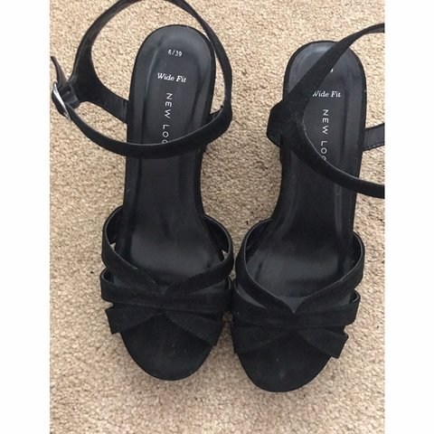 58a39171fe32 New look wide fit block heeled sandals in a size 6. as only - Depop