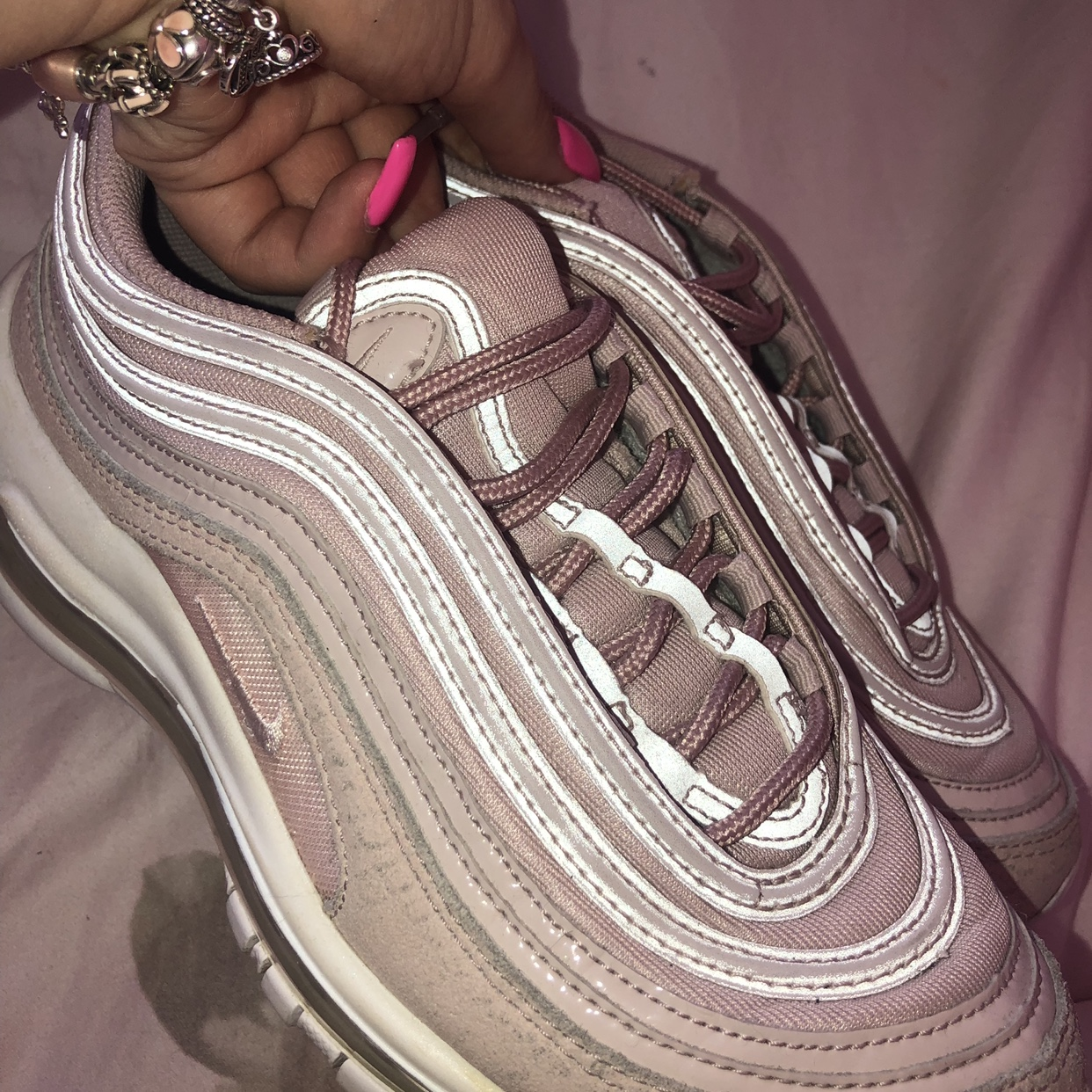 NIKE AIR MAX 97's PINK NUDE ROSE GOLD