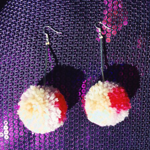 125f6c664 @stephvgraham. 2 years ago. Oxfordshire, United Kingdom. SMALL PASTEL & PINK  POM POM FESTIVAL DROP EARRINGS!