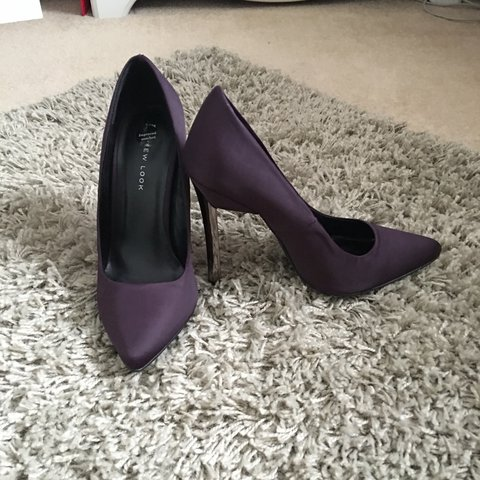 a5b25c5aed6 ✨Brand new New Look dark purple stiletto heels ✨ never worn - Depop