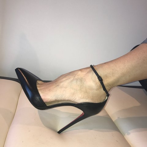 6c35af87a43 NEW Authentic Christian Louboutin  uptown ankle strap pumps  - Depop