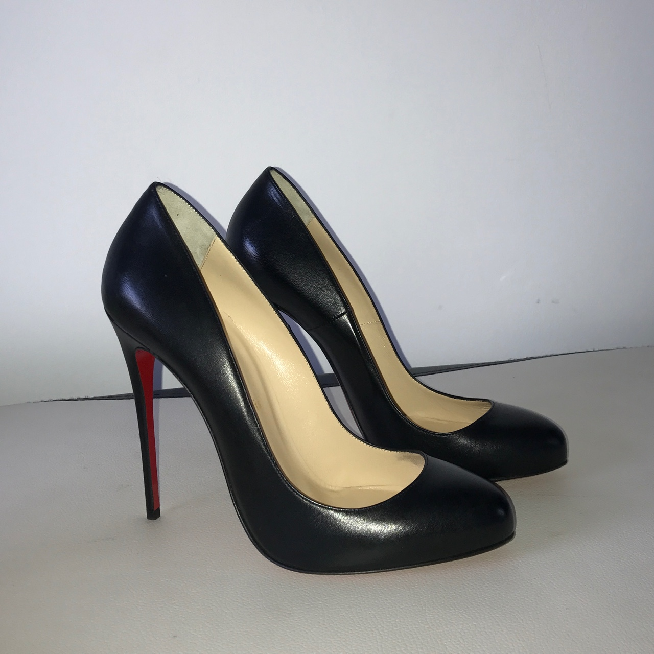 tout neuf 51b89 95ef0 New Authentic Christian Louboutin 'Fifille leather... - Depop