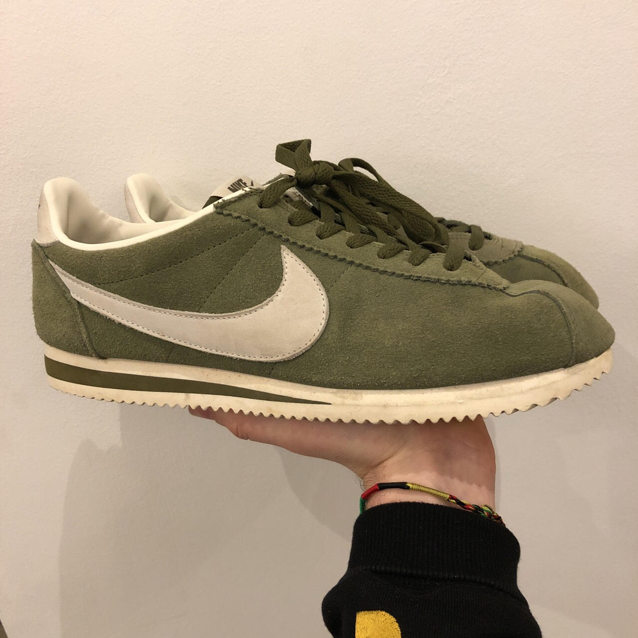 size 40 e6195 482b4 Olive green Nike Cortez, selling because too big.... - Depop