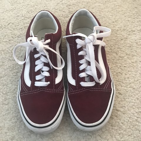 341e24e394 VANS - burgundy old skool vans - size - 4 worn 2 or 3 much - Depop