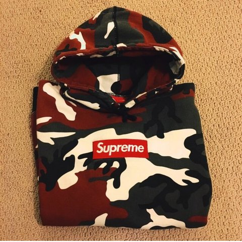 a182def4383b Supreme red camo box logo hoodie conditions 8