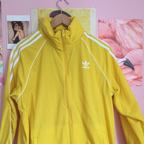 6d9b1e074 Sales Vintage yellow adidas track raincoat message me for t - Depop
