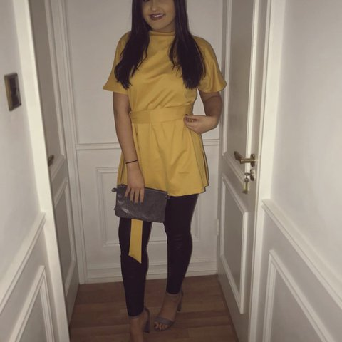 a85ba666b6c8f  chelseyjohnson. 11 months ago. United Kingdom. Missguided mustard yellow  tie waist top ...